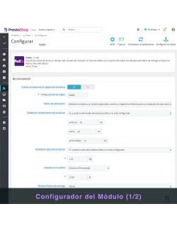 Settings of the module FedEx Carrier for PrestaShop