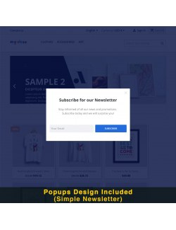 Simple newsletter design of the module Smart Popup (Newsletter Popup) for PrestaShop