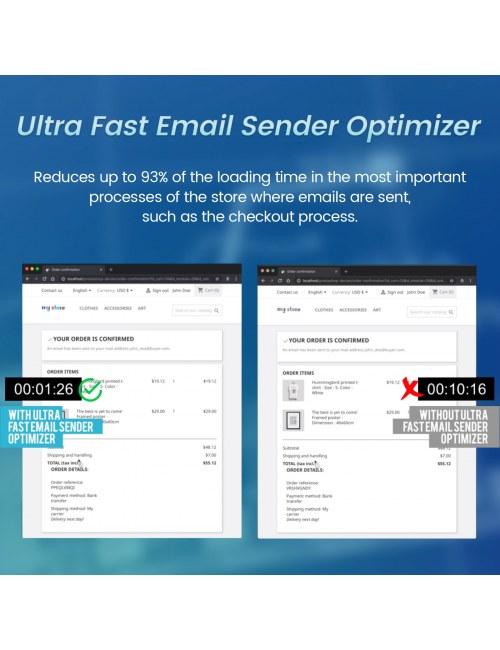 Comparison Ultra Fast Email Sender Optimizer Module for PrestaShop