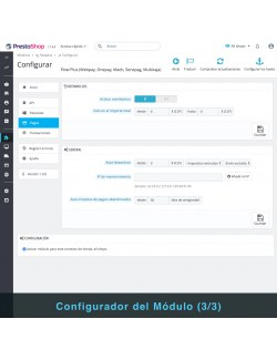 Settings of the module Flow Plus for PrestaShop