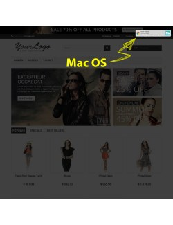 Mac OS preview of the module Browser Notifications for PrestaShop