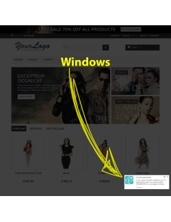 Windows OS preview of the module Browser Notifications for PrestaShop